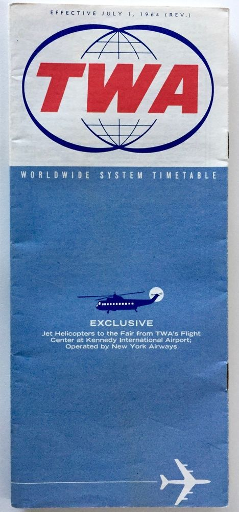 VTG~TWA JULY 1964 TIMETABLE AND SYSTEM GUIDE
