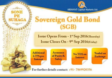 Traditional Gold goes digital - #SovereignGoldBond (SGB)