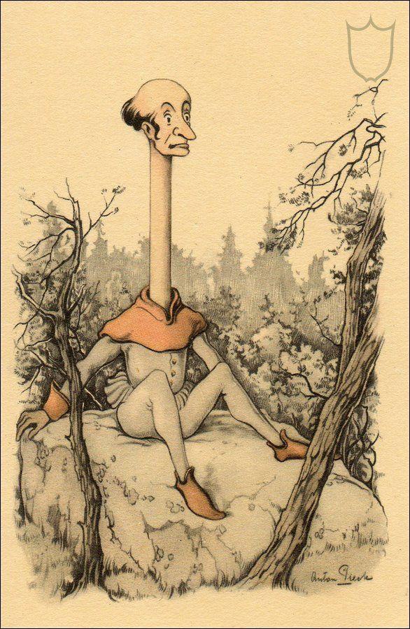 Longneck - The Efteling, by Anton Pieck