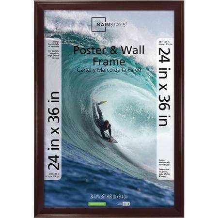 Mainstays Casual 24x36 Poster Frame, Walnut