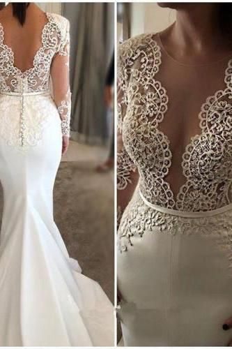 Long Sleeve Wedding Dresses for Teenagers