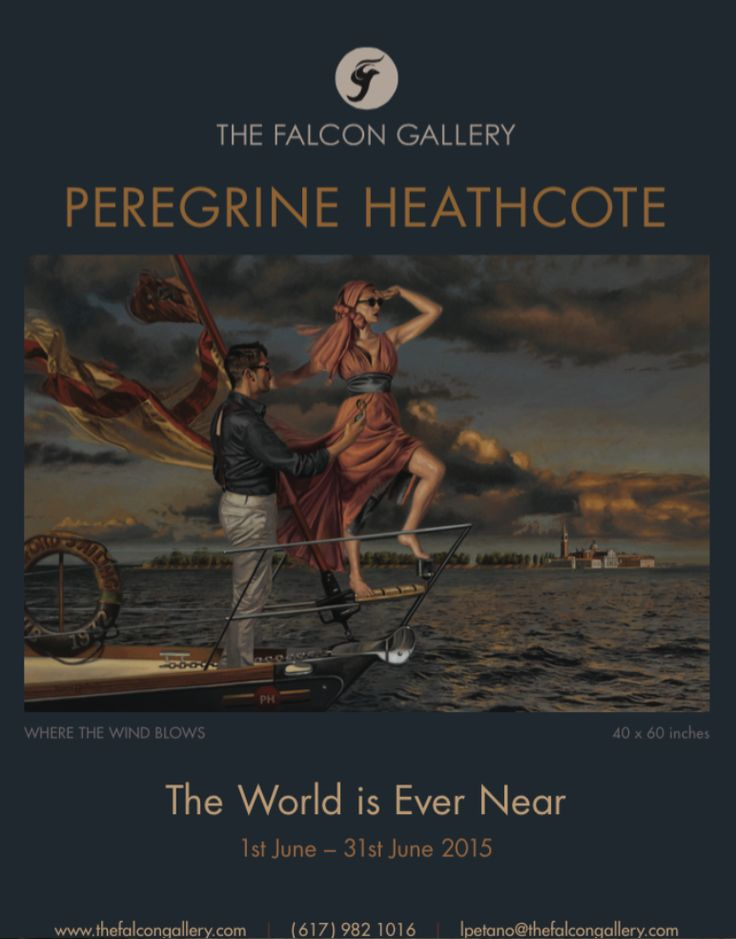 PEREGRINE HEATHCOTE show poster for the Falcon Gallery Exhibition