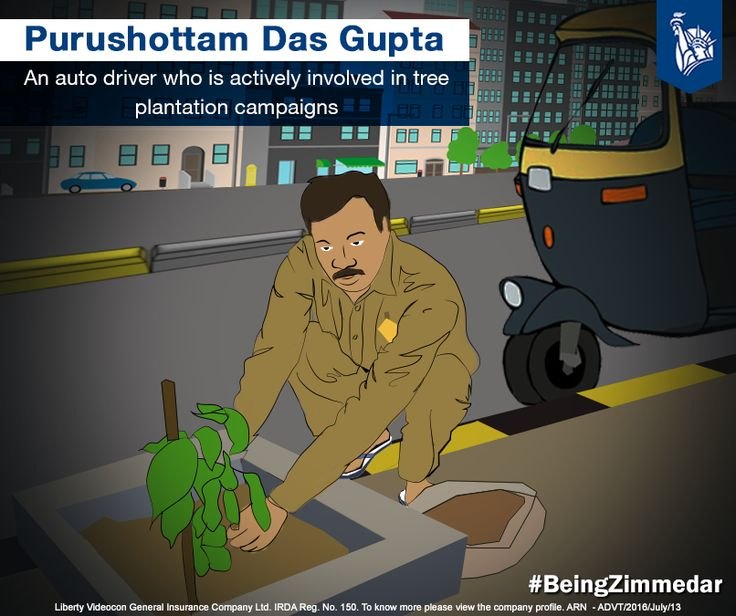 Purushottam Das Gupta, an auto rickshaw driver from Thane, Mumbai, is an avid tree conservation activist. Observing the increasing rate of dead trees, he began 'Sadbhavana- Hara Bhara Bharat', a mission which focussed on caring of existing trees and planting new ones.  #BeingZimmedar