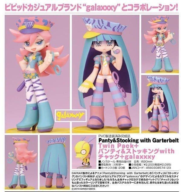 ついんぱっくぷらす ぱんてぃあんどすとっきんぐ うぃず ちゃっく ぎゃらくしー Panty Stocking With Garterbelt Chuck Stocking Anarchy Panty And Stocking Anime Anime Figurines Anime Figures