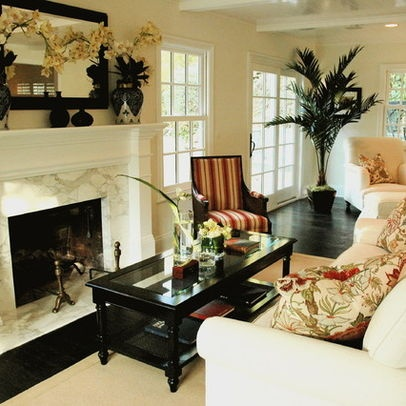 British colonial style design ideas pictures remodel and decor page 9 favorite decor and for Family room and living room difference