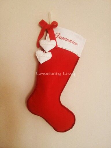 Calza Befana personalizzata... Seguimi su facebook: Creativitylissy