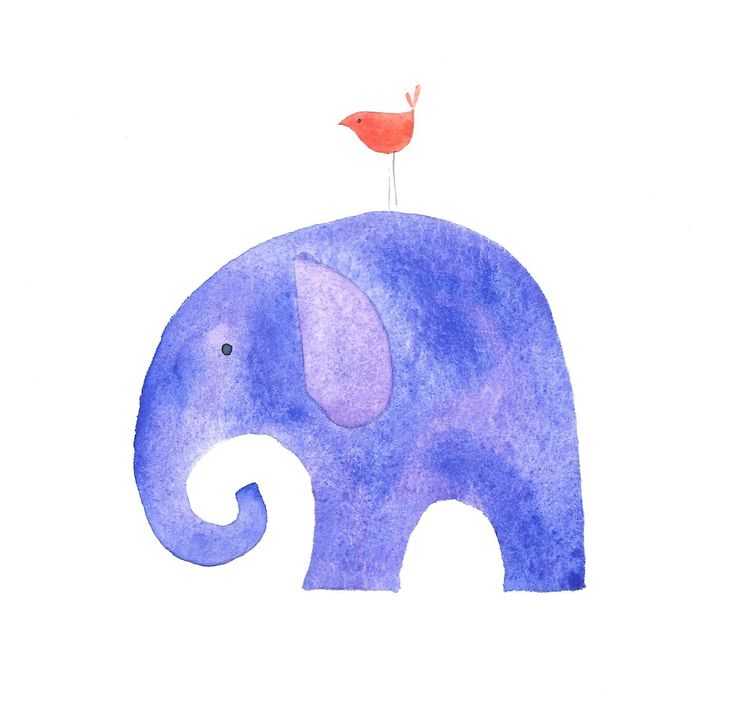 Elephant watercolour by KL Griffiths