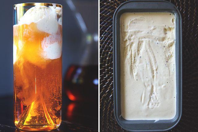 Thai Iced Tea Float with Condensed Milk Ice Cream