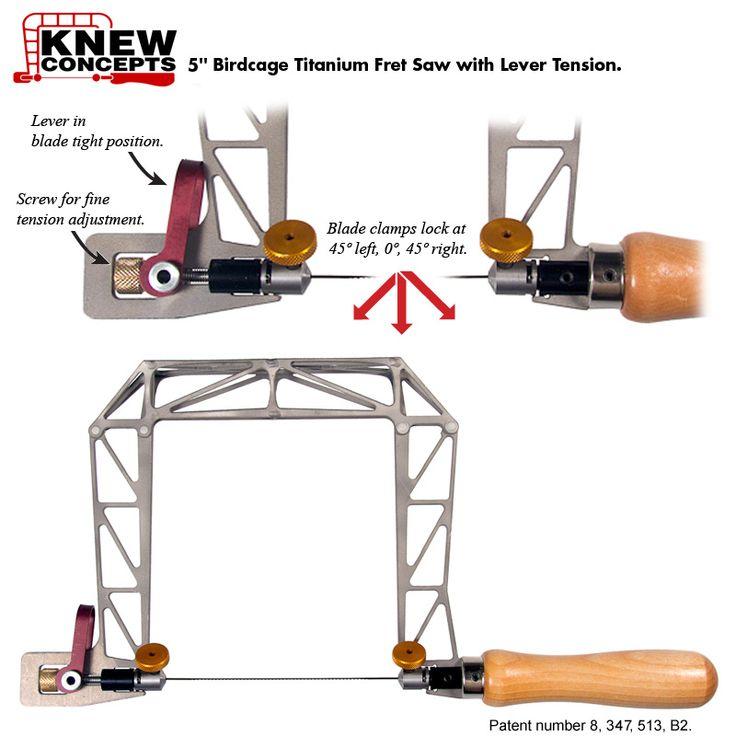 Knew Concepts Titanium Bird Cage Fret Saw Frames - Fine Metalsmithing Saws Designed for Artisans - The Red Saw - Santa Cruz, CA
