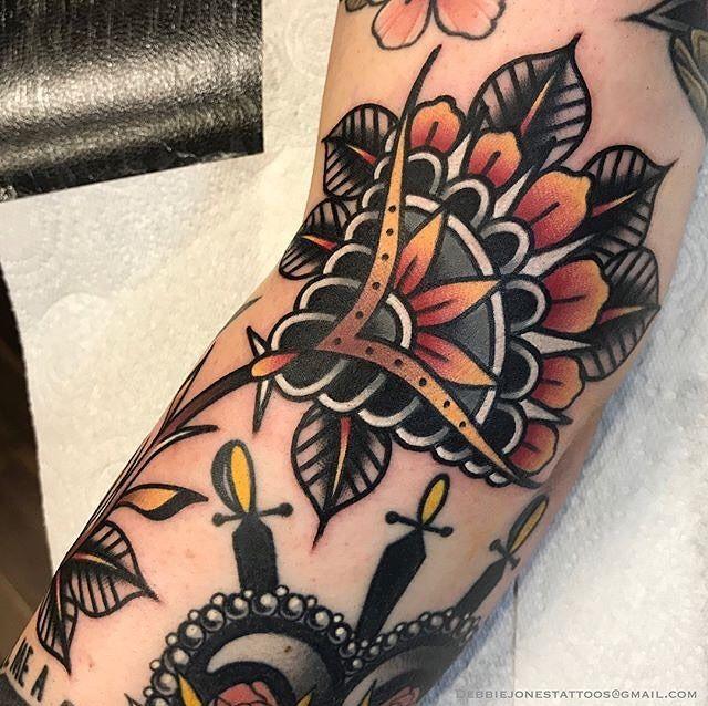 Tattoo By Debbiejonestattoos Traditional Traditionaltattoo Traditionalartist Oldtattoo O Traditional Hand Tattoo Trendy Tattoos Hand Tattoos