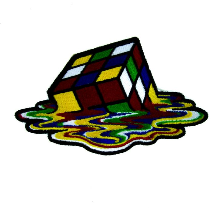 - Melting Rubik's Cube Applique Iron On Patch - 100% Cotton - Well made, greatly embroidered and neatly stitched. - Just iron on any fabric you like - Turn your ordinary clothes or bags into something