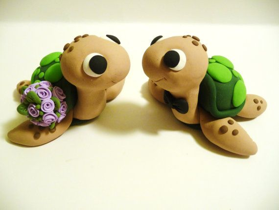 Les tortues de mer Wedding Cake Topper Choisissez par topofthecake