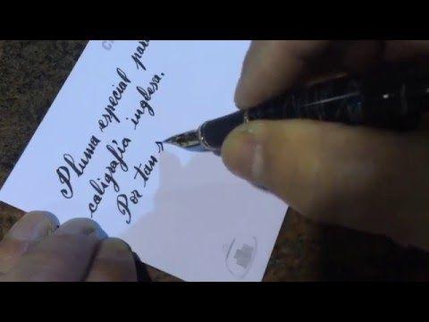 Pluma estilográfica con plumín muy fino y flexible para caligrafía inglesa. Fountain Pen mega flex. - YouTube