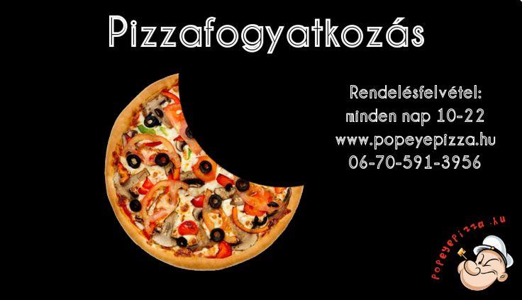 Ha pizzafogyatkozás van, gondolj ránk! :) #törökszentmiklós #popeye #pizzéria #napfogyatkozás #popeyepizza.hu