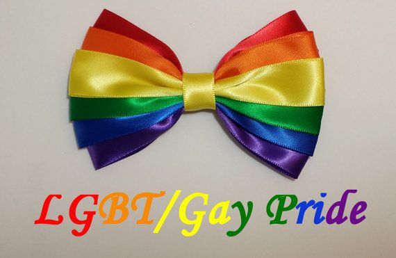 LGBT Gay Pride Bow by TheCraftinOurCoffee on Etsy