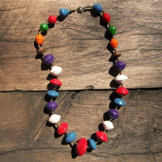 Jendyose Kids Ugandan Recycled Paper Multi-colour Necklace