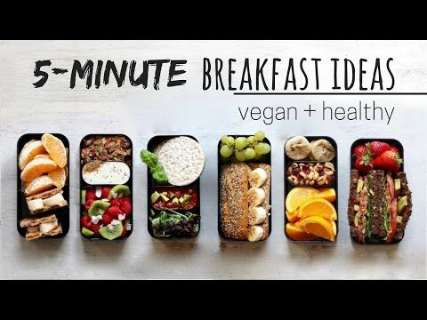 QUICK VEGAN BREAKFAST IDEAS » bento box style - YouTube