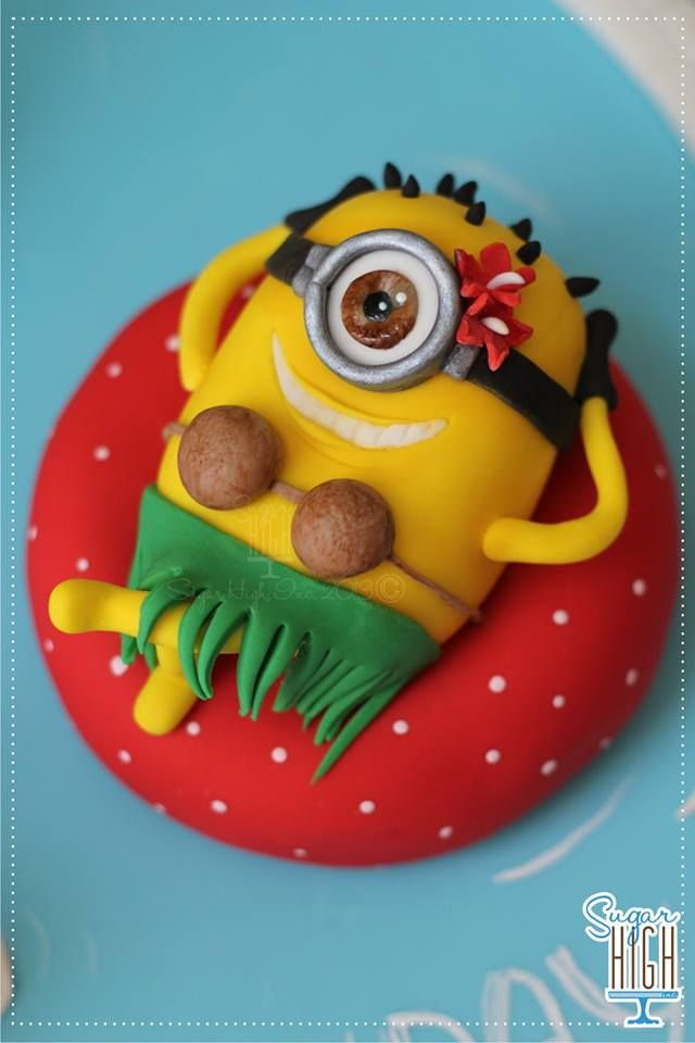 Minion Topper by Sugar High Inc, Fredericksburg, Virginia, USA. You'll find this Cake Appreciation Society Member in our Directory at www.cakeappreciationsociety.com