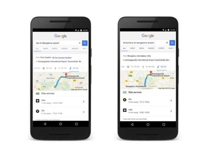 Você poderá pedir Uber e táxi a partir de buscas do Google