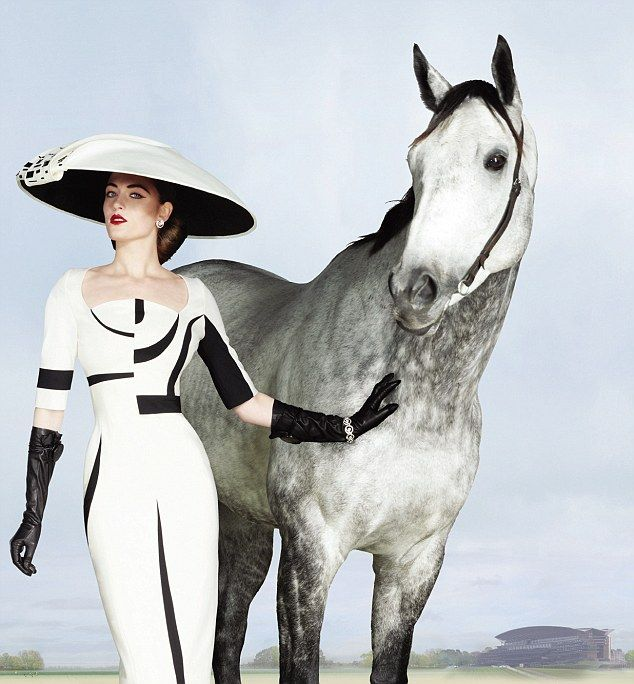 The official campaign images for Royal Ascot 2012 celebrate classic British style and feature an hourglass gown by Antonio Berardi and domed hat by Stephen Jones
