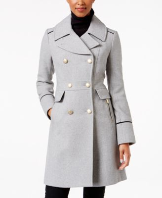 Vince Camuto's military peacoat brings essential, menswear-inspired design to your seasonal look. | Wool/polyester/nylon/acrylic/rayon; lining: polyester | Dry clean | Imported | Notched collar  | Dou