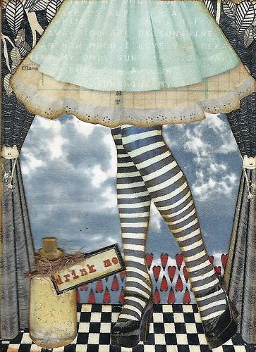 Layered Alice In Wonderland art.