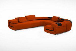 orange l shaped sofa designs