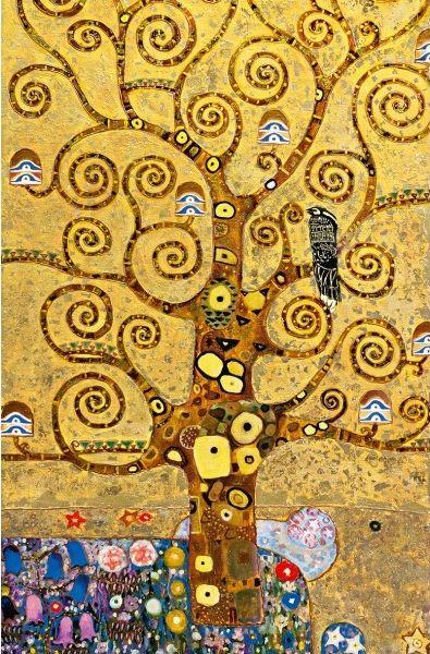 "Poster XXL Giant Art W635 ""Tree of Life Swirl"" 115 x 175 cm - BRICOFLOR"
