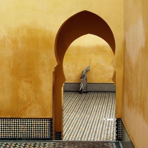 Morocco. Meknes. Moulay Ismael Mausoleum. 1985., 1985 Bruno Barbey