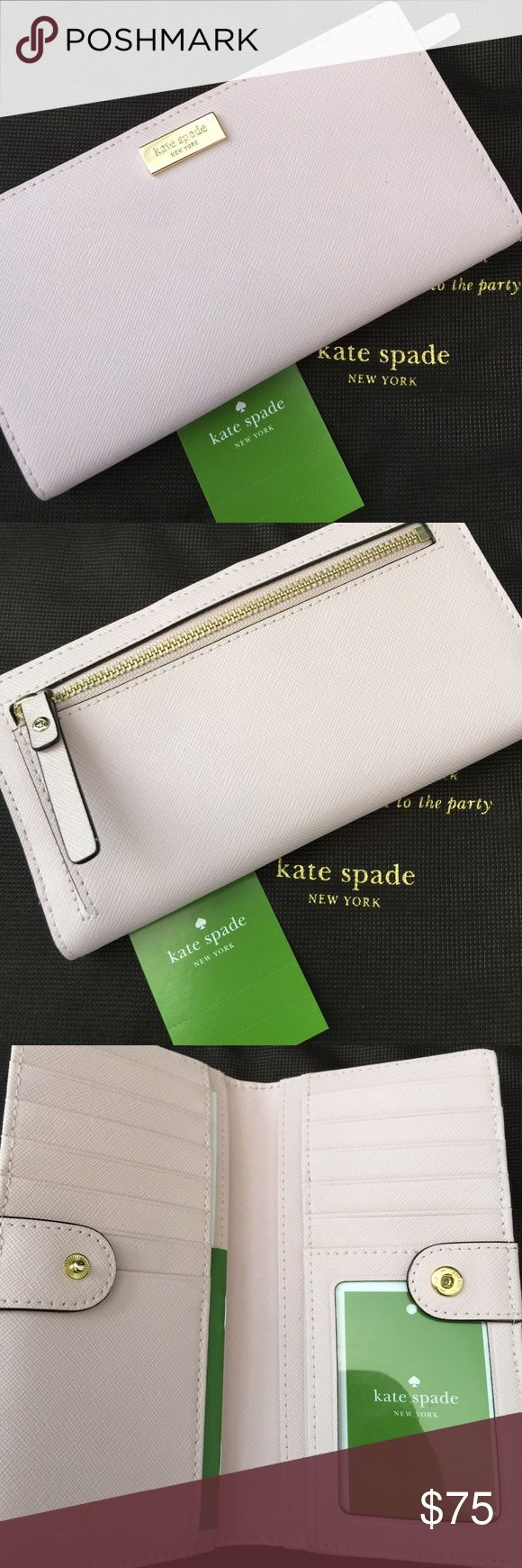 💯% Authentic New Kate Spade Stacy Wallet 💯% Authentic New Kate Spade Stacy Wallet. Style# WRLU1601 Newbury Lane in Posypink. Never used. No stains/marks. Also available through P ay pa l. kate spade Bags Wallets