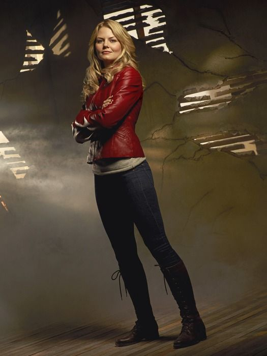 Day 16: Favorite Outfit - This is weird, but I totally love Emma's style, especially her red leather jacket