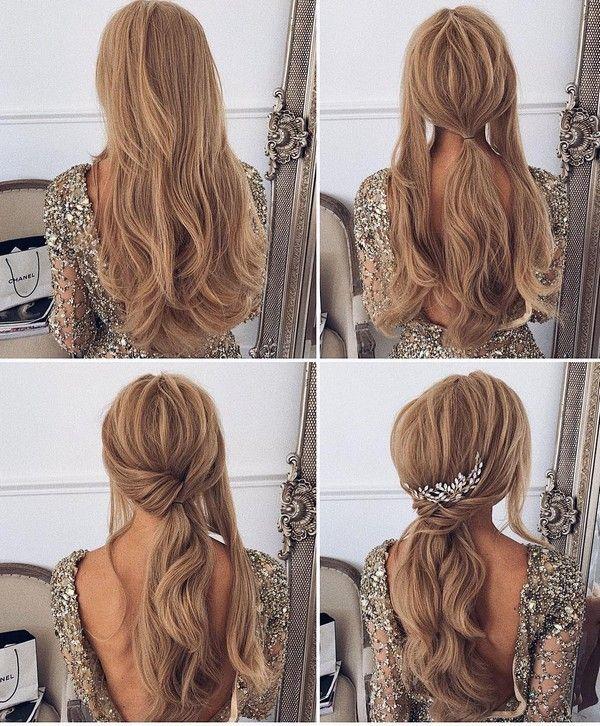 30 Prom Wedding Hairstyle Tutorial For Long Hair Roses Rings Part 3 Easy Homecoming Hairstyles Hair Styles Medium Hair Styles