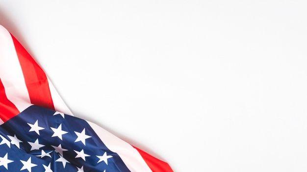 Amassado Bandeira Dos Estados Unidos Em Fundo Branco Bandeira Dos Estados Unidos Estados Unidos Fundos