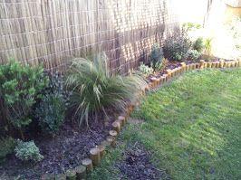 Jardines con polines de separaciones