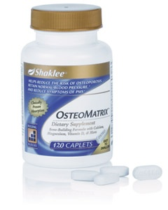 Shaklee Bone Health. See video at http://content.shaklee.com/shaklee/flash/show.php?video=OsteoMatrix