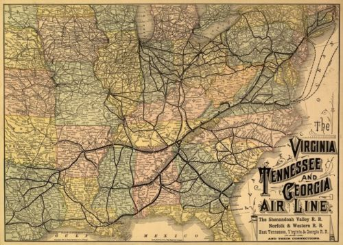 Best 25 train map ideas on pinterest italy rail map map of 24x36 vintage reproduction railroad train map virginia tennessee georgia 1882 sciox Image collections