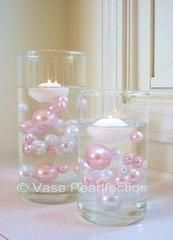80 Unique Jumbo & Assorted Sizes Light Pink Pearls/Baby Pink Pearls & White Pearls Vase Fillers Value Pack...NOT INCLUDING THE TRANSPARENT WATER GELS...FREE SHIPPING