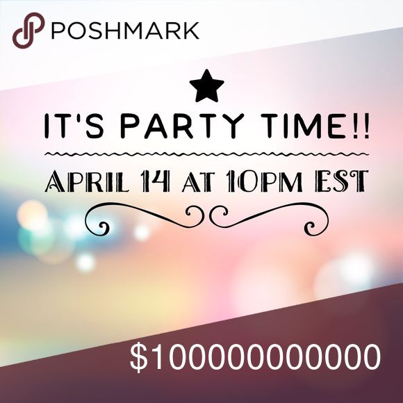 I'm cohosting!! Super excited to be cohosting my second posh party on Saturday April 14 at 10pm est.  I'll be on the lookout for some host picks, especially once the theme is announced. Posh compliant closets only please!  Happy poshing 🎉 Bags