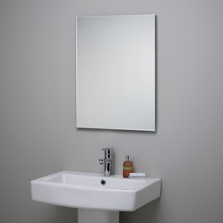 Bathroom Square Mirror Hang On The Wall Complete With Modern Sink Paired Stainless