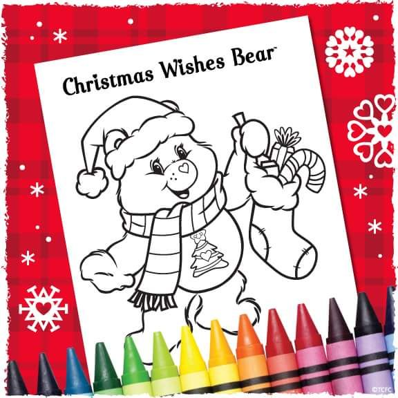 care bear coloring pages christmas - photo#46