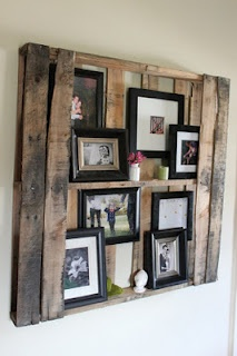 21 awesome things you can do with a pallet!: Picture, Pallets Wall, Frames, Pallets Shelves, Wooden Pallets, Photos Display, Pallets Ideas, Wood Pallets, Old Pallets