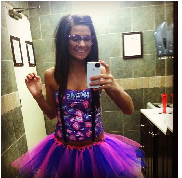 Halloween costume: Candy nerd! Homemade tutu duck tape - Cute Easy Halloween Costumes