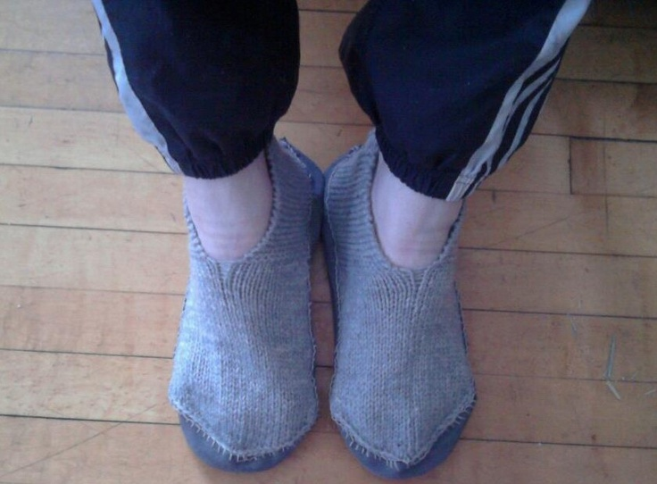 Swedish guest slippers, with leather soles.