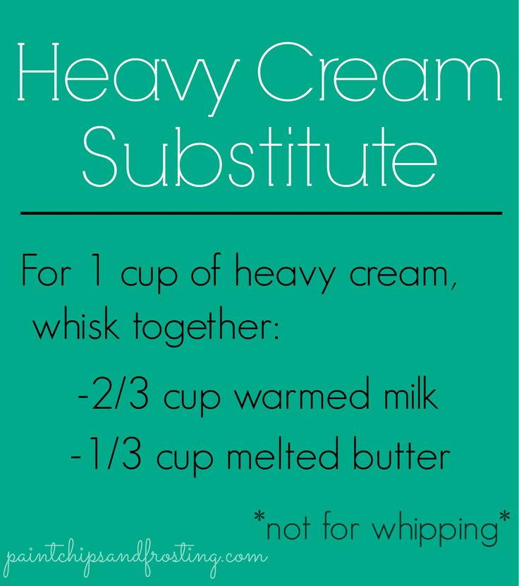 Heavy Cream Substitut