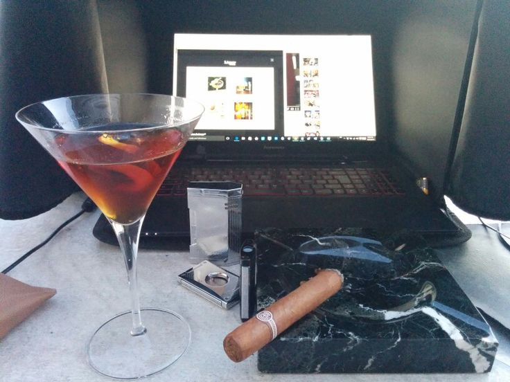 MacAllan 18 Rob Roy with Montecristo Edmundo.