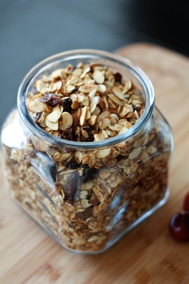 cherry almond granola homemade granola recipe breakfast snacks ...