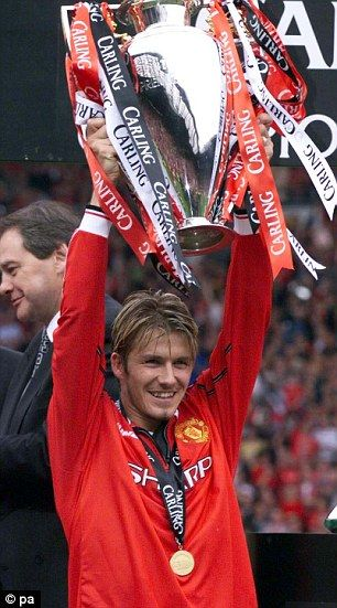 David Beckham in his Manchester United days