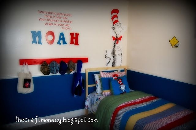 1000 images about kid bedrooms on pinterest child room for Cat in the hat bedroom ideas