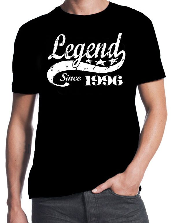 >> Click to Buy << 21st Birthday Legend Since 1996 21 Years Old Gift Idea Son Present Black T Shirt T-Shirts 2017 Brand Clothes Slim Fit Printing #Affiliate