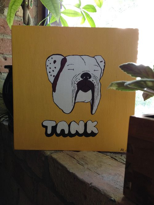 """Portrait of """"Tank"""" commissioned."""
